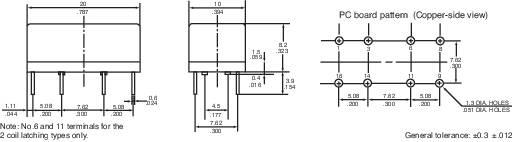 Signálové relé Reed DR 1 A 5 V/DC 1 přepínací kontakt Panasonic DR5SDS 1 ks