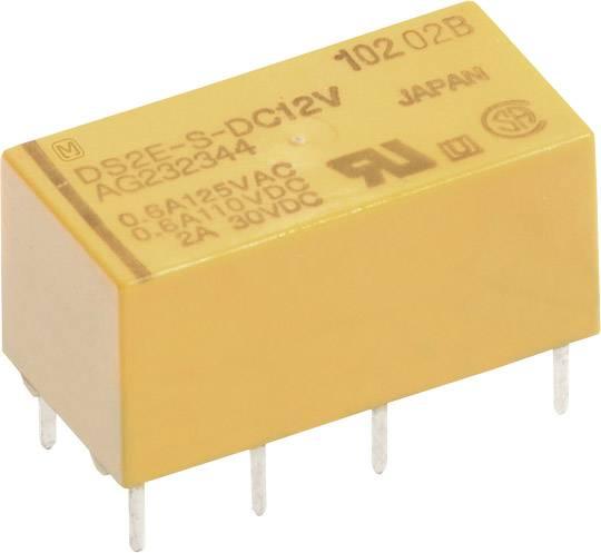 Signální relé DS2Y 2 A, 2x přep.kont., Print Panasonic DS2YS12, 200 mW, 2 A 220 V/DC/250 V/AC , 60 W/62,5 VA