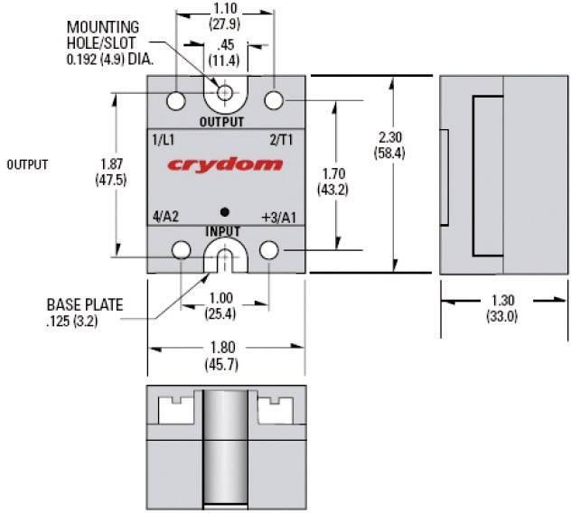 Polovodičové relé Crydom CWA4890 CWA4890, 90 A, 1 ks