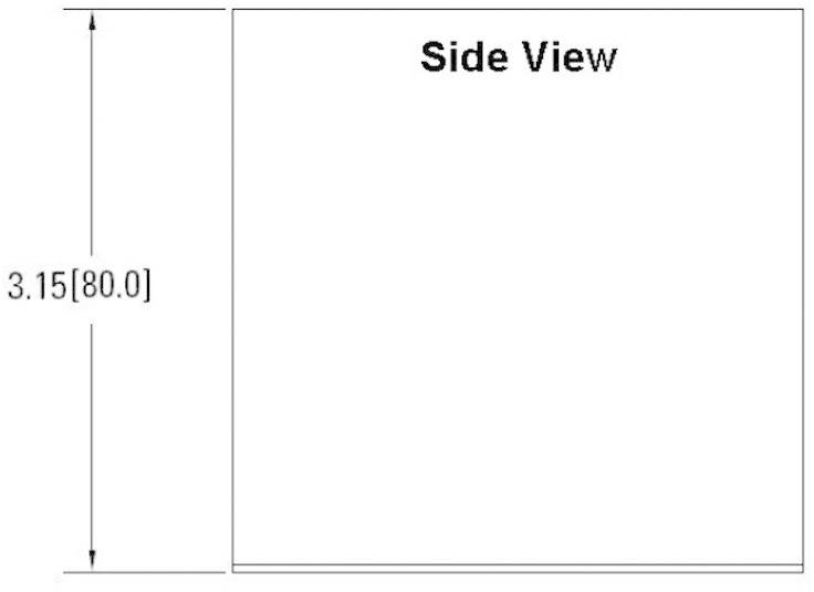 Chladič Crydom HS201DR, 2 K/W, (d x š x v) 81 x 45 x 86.5 mm
