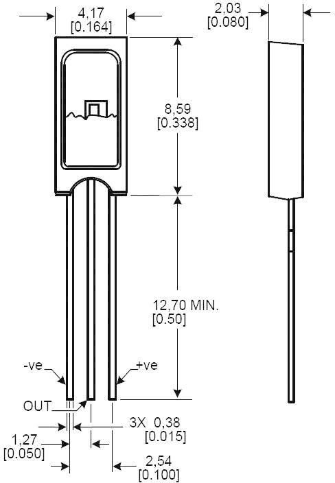 Senzor vlhkosti Honeywell AIDC HIH-4000-002, 0 - 100 % r., -40 - +85 °C