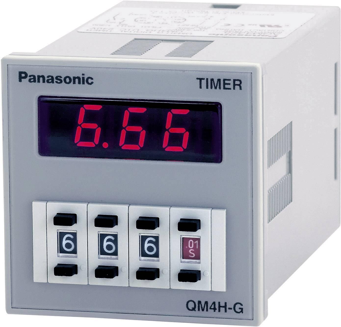 Časové relé monofunkčné Panasonic QM4HSU2C240VJ QM4HSU2C240VJ, čas.rozsah: 0.01 s - 9990 h, 1 prepínací, 1 ks