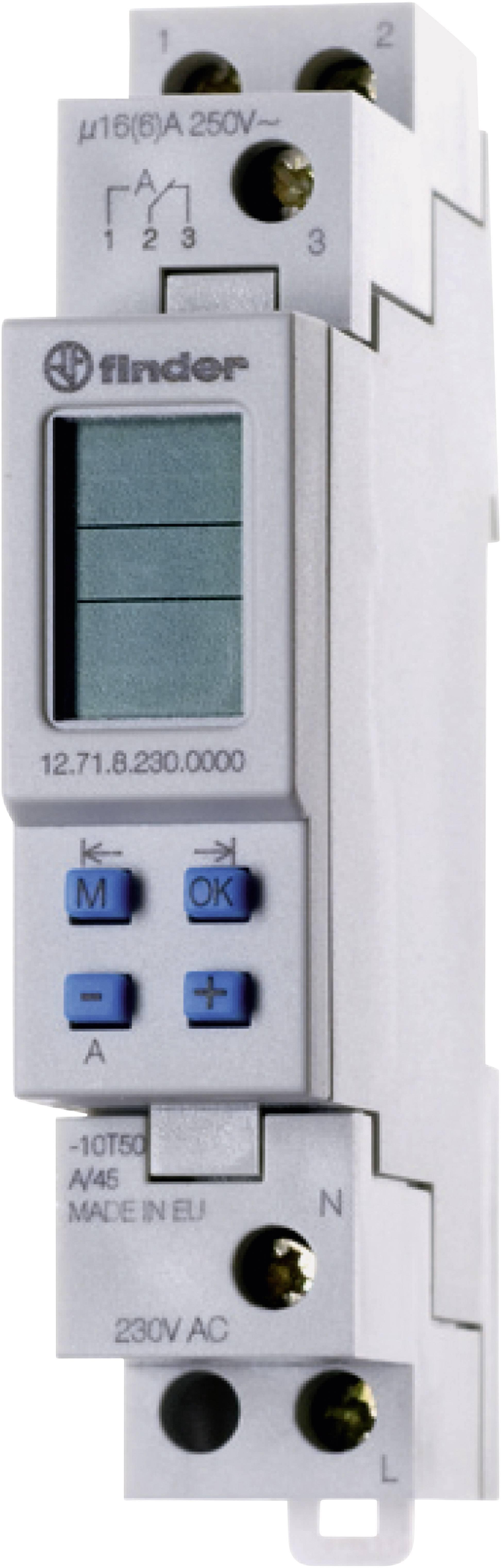 Časové relé - časovač Finder 12.71.8.230.0000 12.71.8.230.0000, 1 ks
