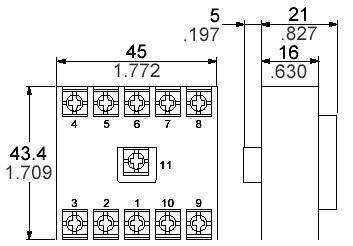 11pólová šroubová relé-patice Panasonic AT78051J