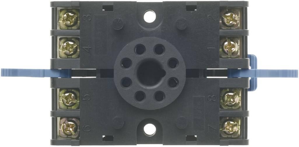 8 pólová šroubová relé-patice Panasonic ATC180031J pro montáž na lištu DIN