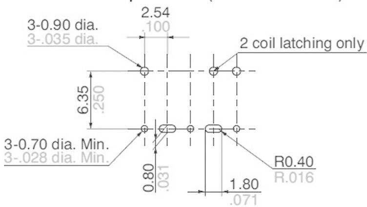 Vysokofrekvenčné relé ARS 3 GHz, plošné