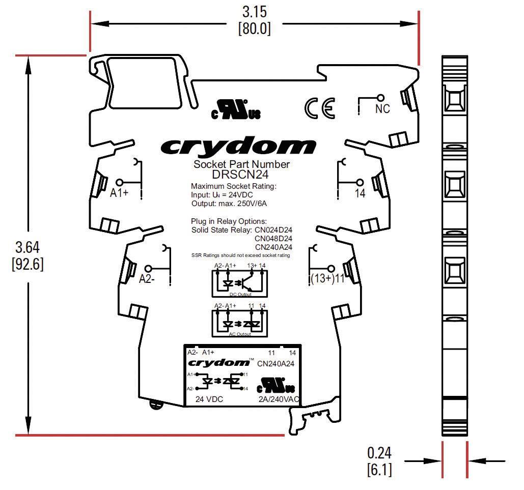 Polovodičové relé Crydom DRA-CN024D05 DRA-CN024D05, 3.5 A, 1 ks