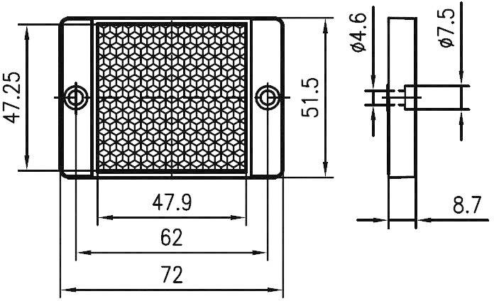 Reflexná odrazka pre svetelnú závoru Leuze Electronic TKS 50 x 50, 50022814, 50 x 50 mm
