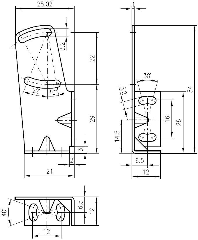Montážny držiak Leuze Electronic séria BT 3B