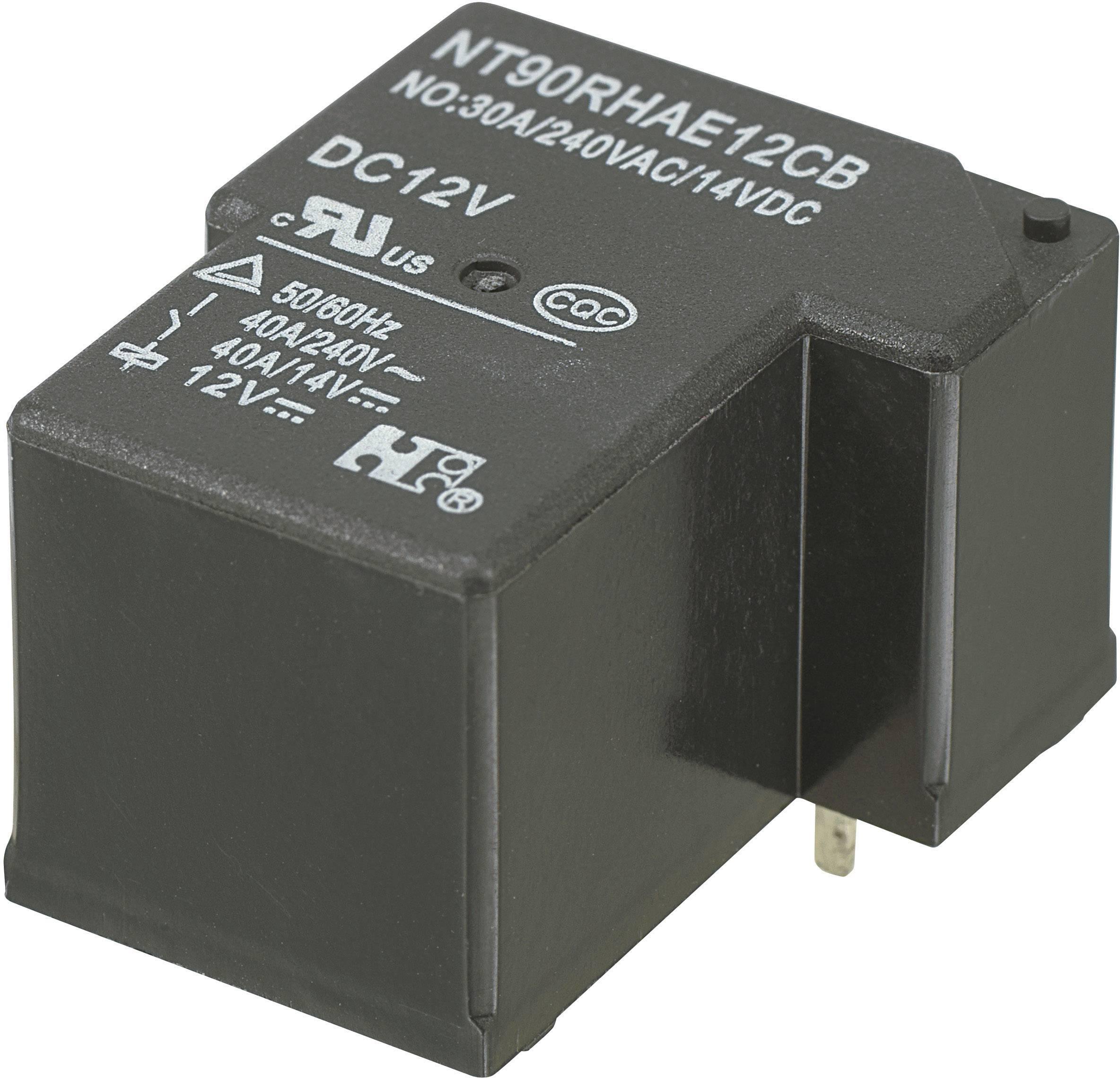 Zátěžové relé NT90RHAE12CB, NT90RHAE12CB, 30 A, 30 A , 110 V/DC/300 V/AC NO 30 A/240 V/AC, 14 V/DC, NC 20 A/240 V/AC, 30 A/14 V/DC