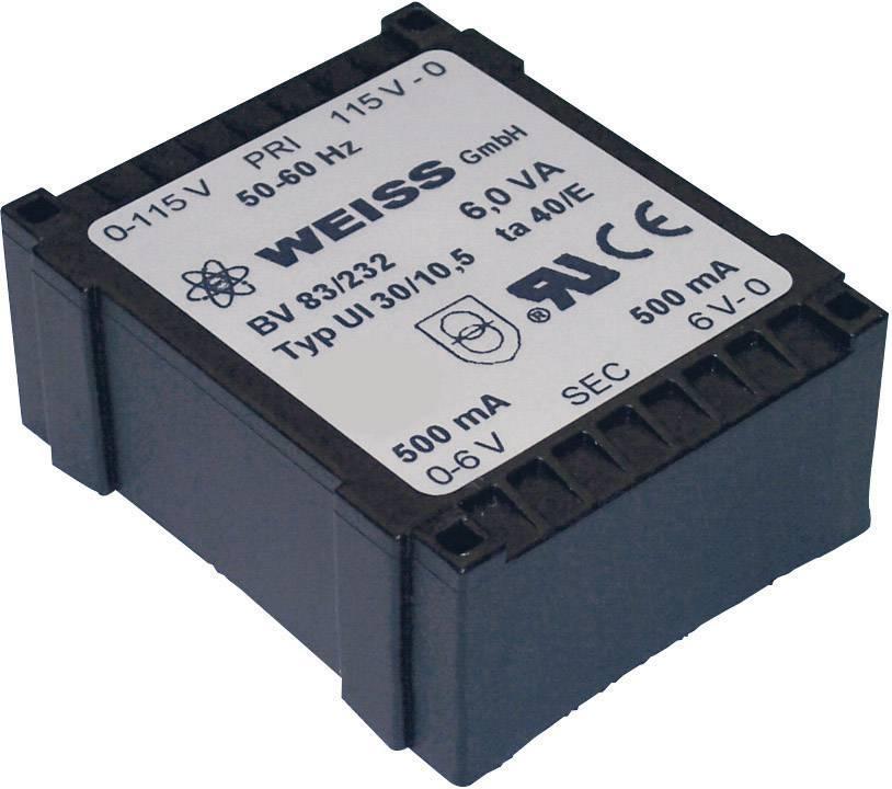 Transformátor do DPS Weiss Elektrotechnik 83/235, 6 VA
