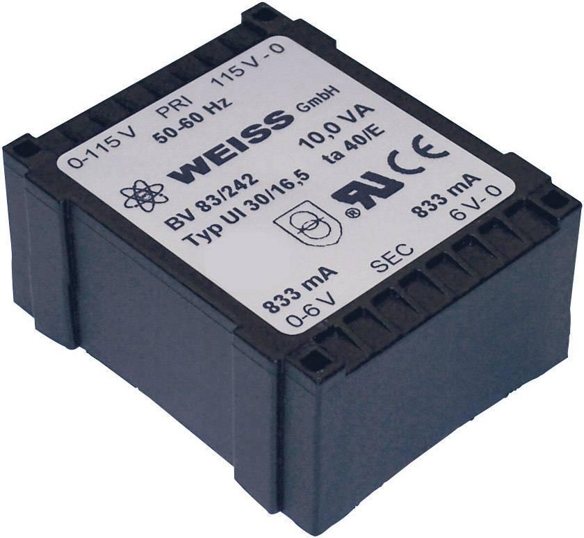 Transformátor do DPS Weiss Elektrotechnik 83/245, 10 VA