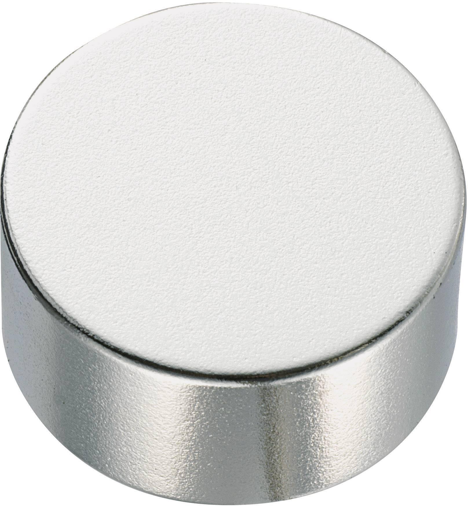 Guľatý permanentný magnet TRU COMPONENTS 505797, (Ø x v) 20 mm x 5 mm, N35