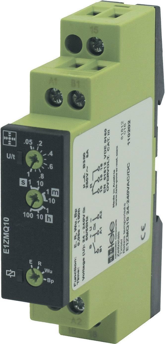 Časové relé multifunkčné tele E1ZMQ10 24-240VAC/DC 110202, 1 prepínací, 1 ks
