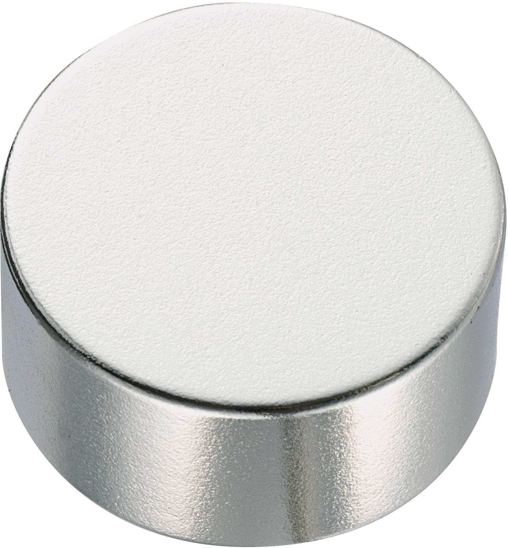 Guľatý permanentný magnet TRU COMPONENTS 505895, (Ø x v) 10 mm x 5 mm, N35M