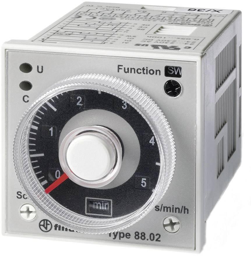 Časové relé multifunkčné Finder 88.02.0.230.0002 88.02.0.230.0002, čas.rozsah: 0.05 s - 100 h, 2 prepínacie, 1 ks