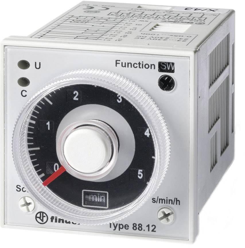 Časové relé multifunkčné Finder 88.12.0.230.0002 88.12.0.230.0002, čas.rozsah: 0.05 s - 100 h, 2 prepínacie, 1 ks