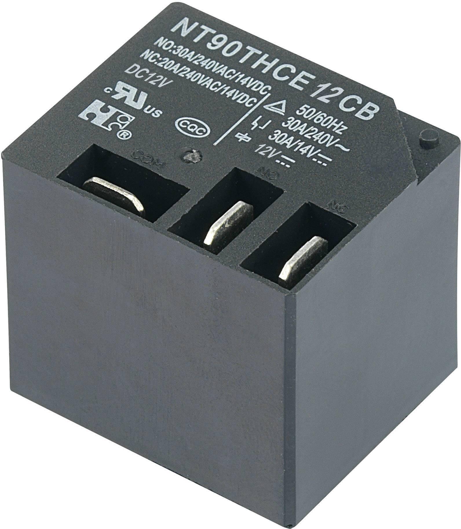 Zátěžové relé NT90THCE12CB, NT90THCE12CB, 30 A, 30 A , 110 V/DC/300 V/AC NO 30 A/240 V/AC, 14 V/DC, NC 20 A/240 V/AC, 30 A/14 V/DC