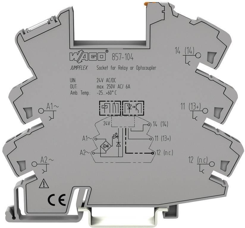 Patice pro polovodičové relé JUMPFLEX WAGO 857-104, 6 mm, 81 mm