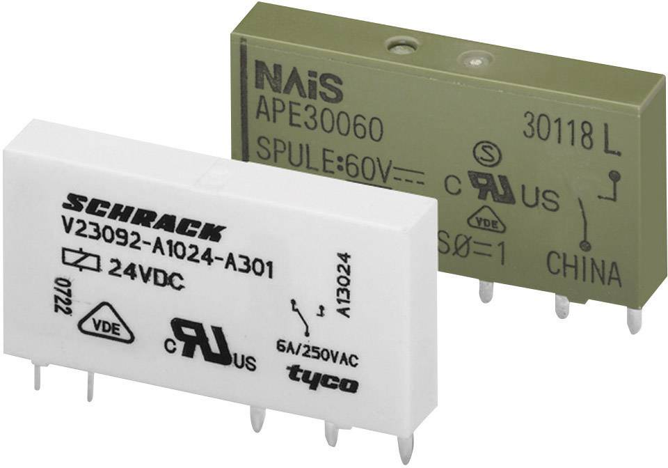 Relé do DPS WAGO 857-152, 24 V/DC, 6 A, 1 prepínací, 1 ks