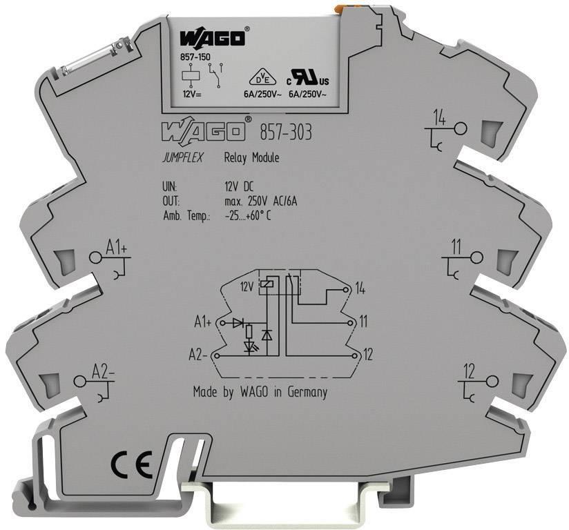 Zásuvná patice s relé JUMPFLEX®, pozlacené kontakty WAGO 857-318, 220 V/DC, 0.05 A, 1 přepínací kontakt