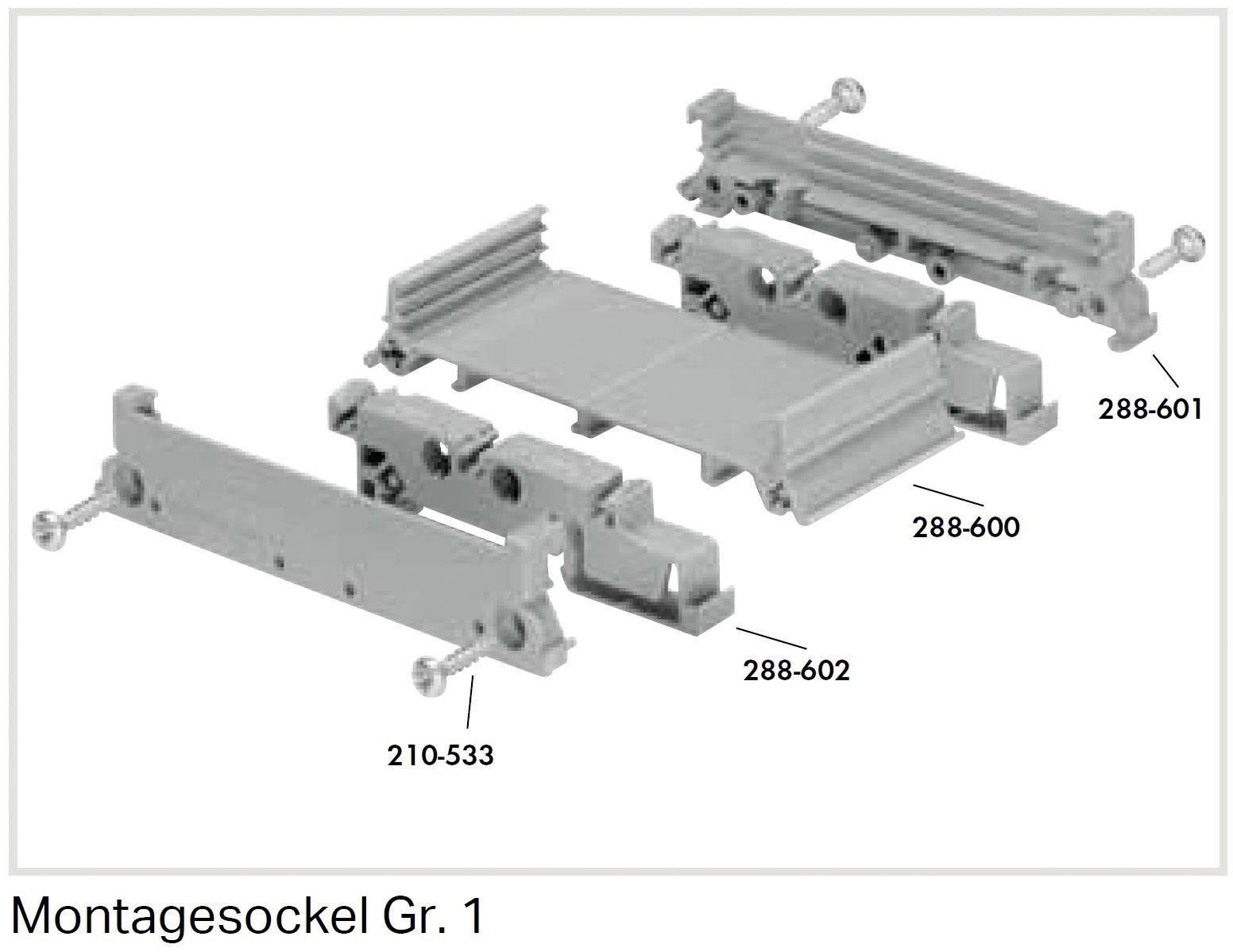 Hrebeňové premostenie WAGO 288-601 1 ks sivá