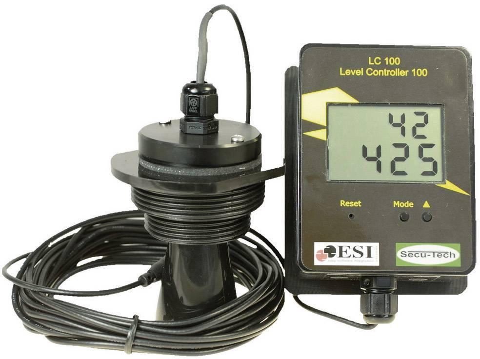 Ultrazvukový měřič výšky hladiny SecuTech LC 103 (ST001004), (4 baterie AA) 6 V/DC