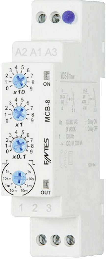 Časové relé multifunkčné ENTES MCB-8, 24 V/DC, 24 V/AC, 230 V/AC 101584, čas.rozsah: 0.1 s - 30 h, 1 prepínací, 1 ks