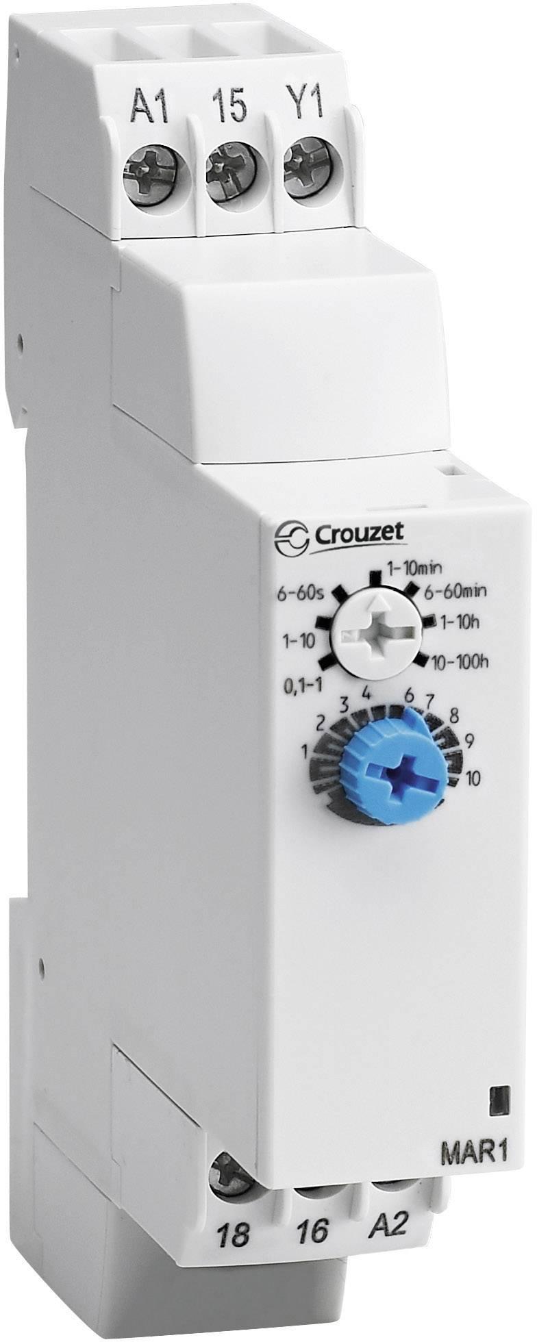 Elektronické časové relé Crouzet, 88827135, MCR1, 8 A, 8 A DC/AC , 250 V DC/AC 2000 VA/ 80 W