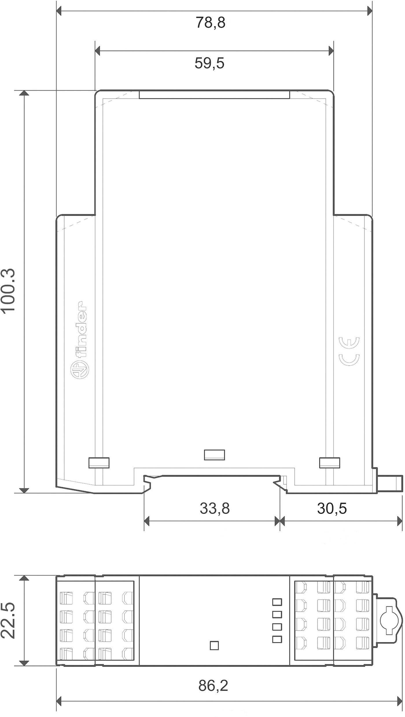 Reléový modul Finder 7S.14.9.024.0220