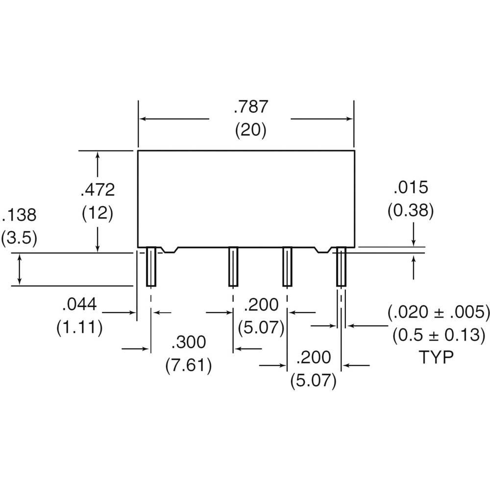 Subminiaturní DIP relé 6 V/DC 2 A Zettler Electronics