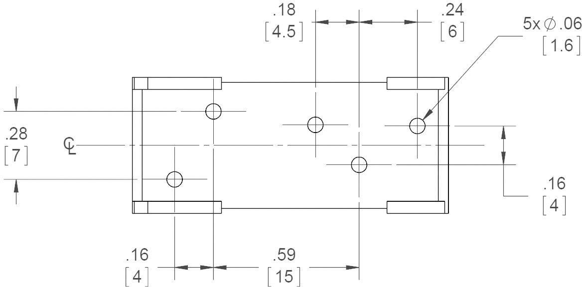 Print patice pro polovodičové relé série ED Crydom PCBSED, 12  A