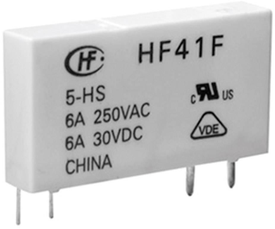 Relé do DPS Hongfa HF41F/024-ZST, 24 V/DC, 6 A, 1 přepínací kontakt, 1 ks