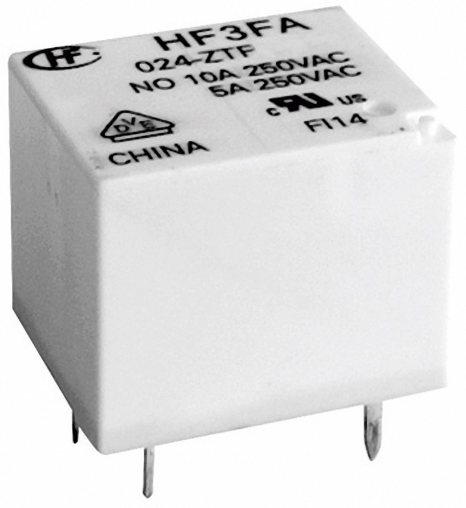 Relé do DPS Hongfa HF3FA/012-ZTF, 12 V/DC, 10 A, 1 prepínací, 1 ks