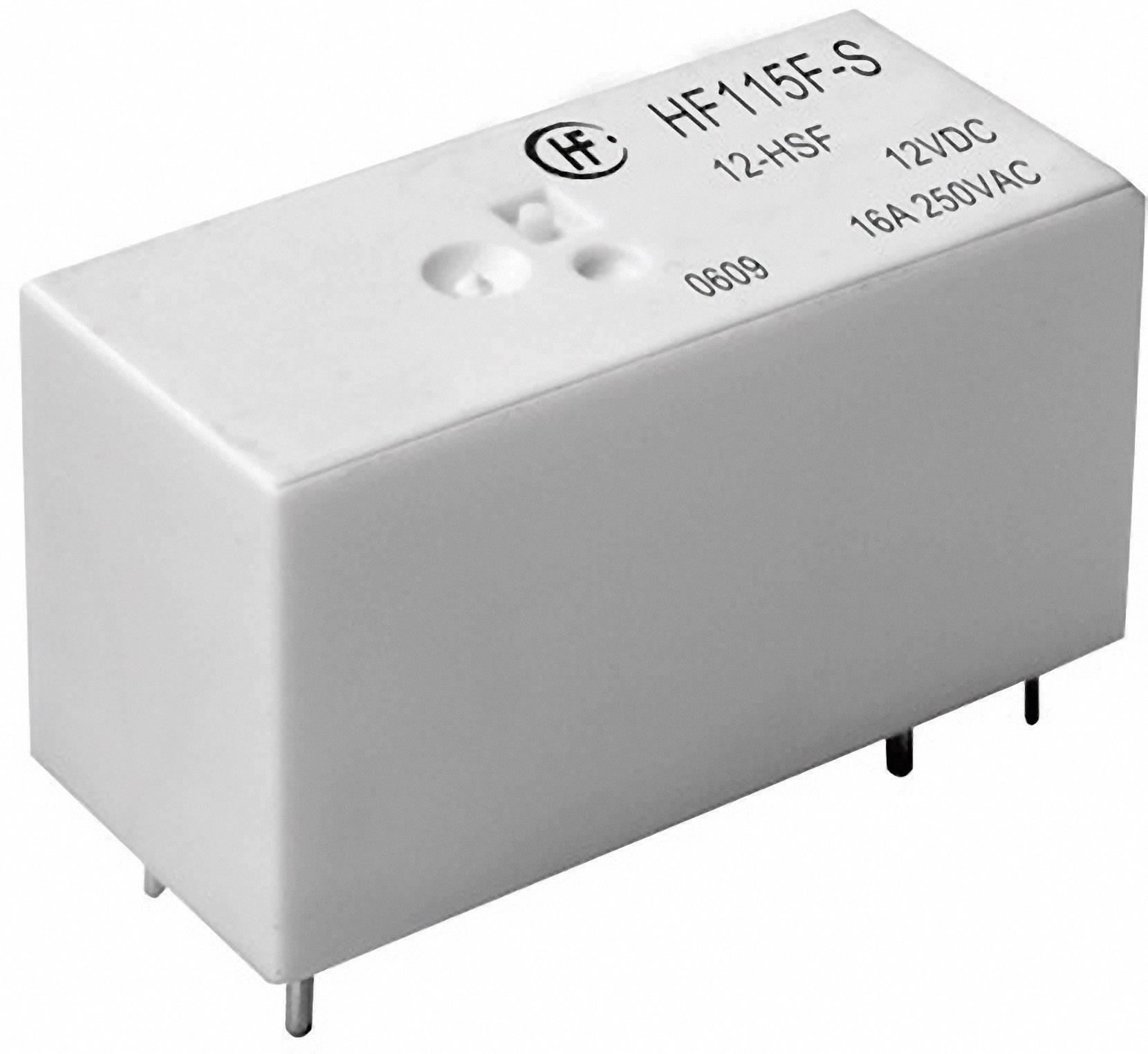 Relé do DPS Hongfa HF115F-S/024-HSF, 24 V/DC, 16 A, 4000 VA, 1 spínací kontakt, 1 ks