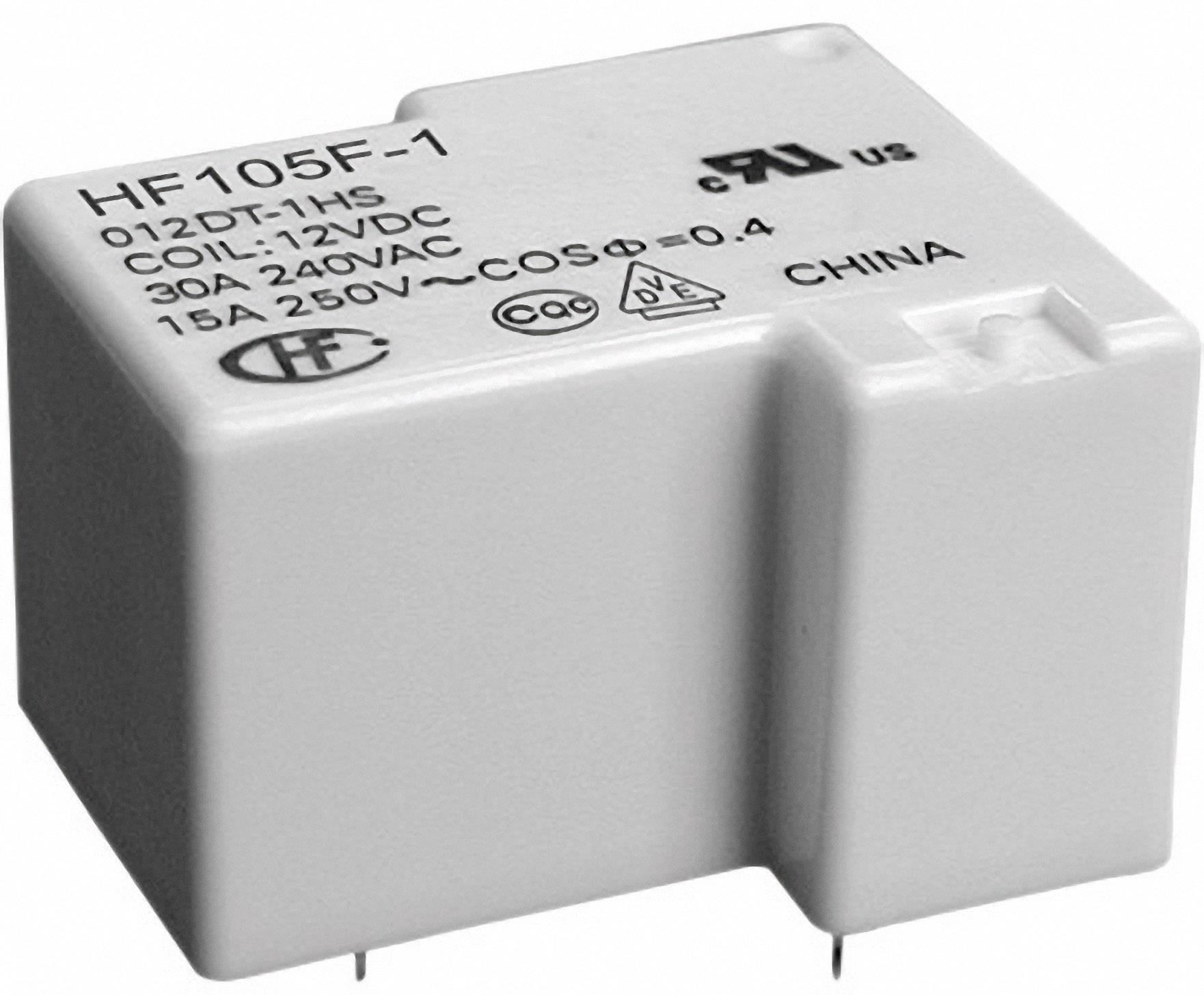 Relé do DPS Hongfa HF105F-1/012DT-1ZST (136), 12 V/DC, 20 A, 1 prepínací, 1 ks