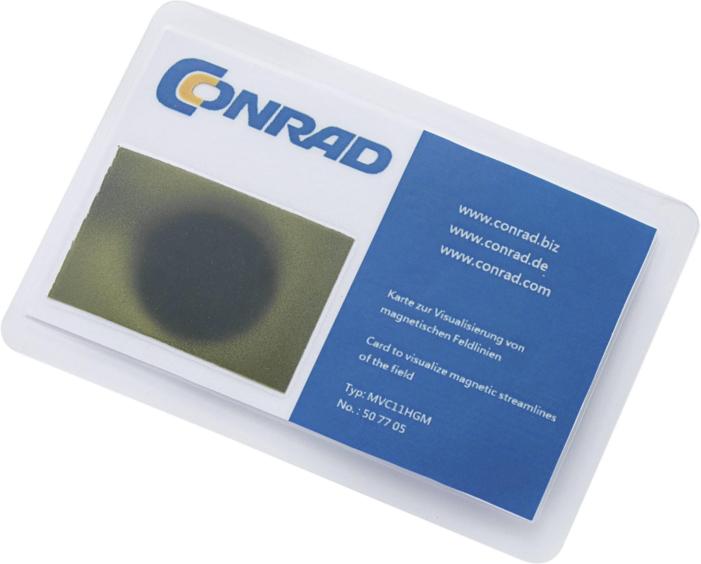 Karta pre vizualizáciu magnetického poľa, MVC11HGM, 95 x 65mm