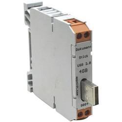 USB zástrčka na lištu 1 ks Appoldt 2.0-8GB USB-A IP54