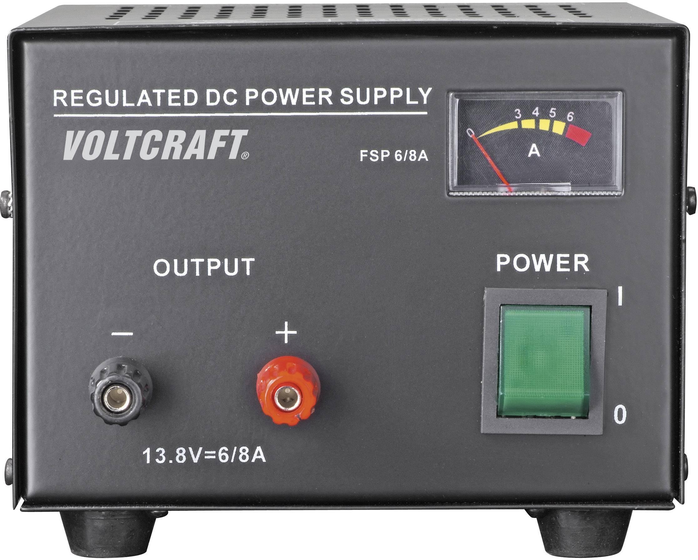 Sieťový zdroj so stabilným napätím Voltcraft FSP-1136 13.8 V/DC, 6 A, 85 W