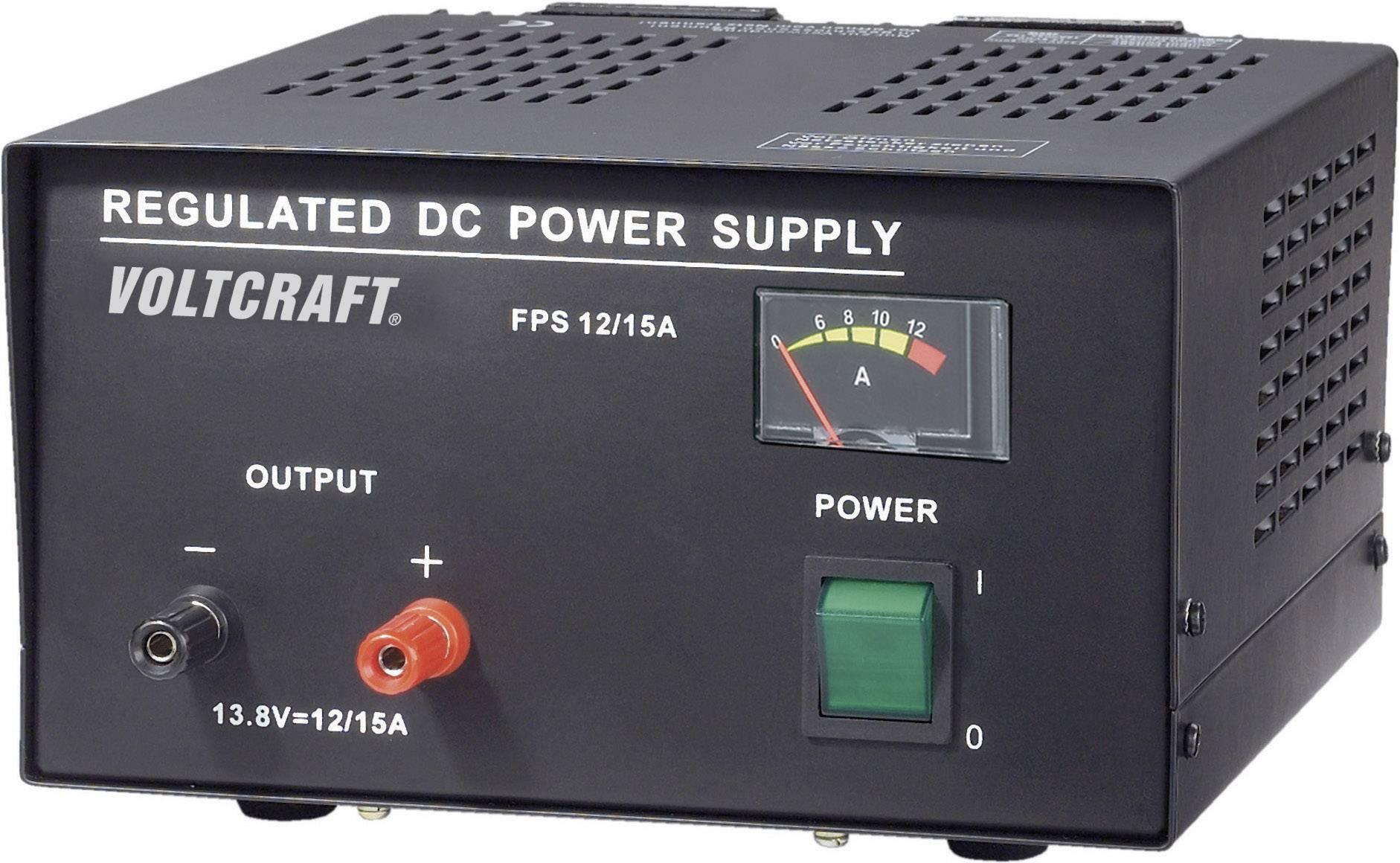 Sietový zdroj so stabilným napätím Voltcraft FSP-11312, 13.8 VDC, 12 A