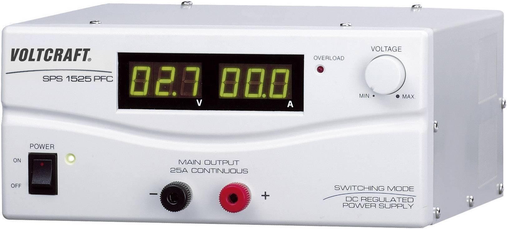 Spínaný laboratórny zdroj Voltcraft SPS-1525 PFC, 3 - 15 V, 25 A