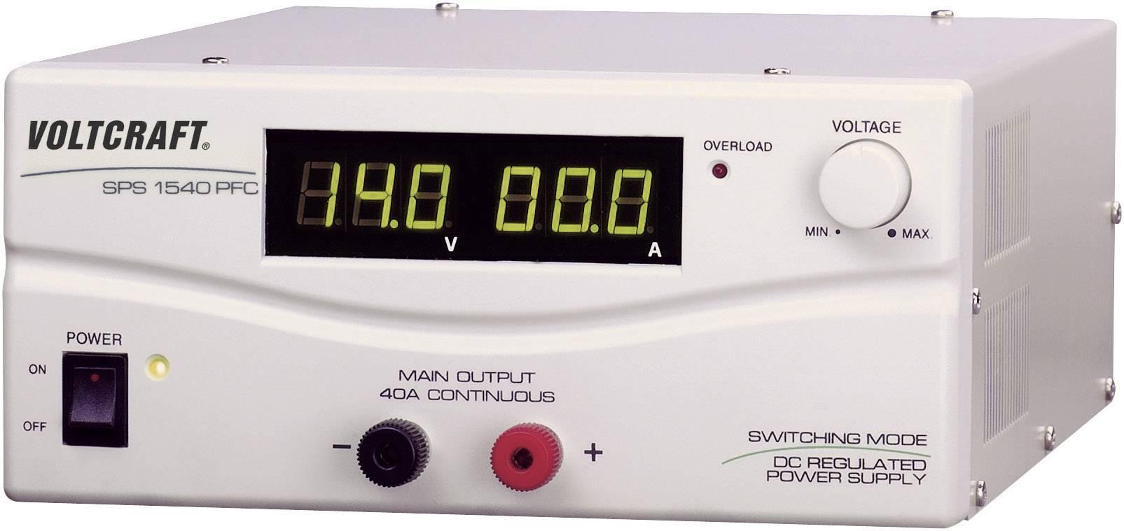 Spínaný laboratórny zdroj Voltcraft SPS-1540 PFC, 3 - 15 V, 40 A
