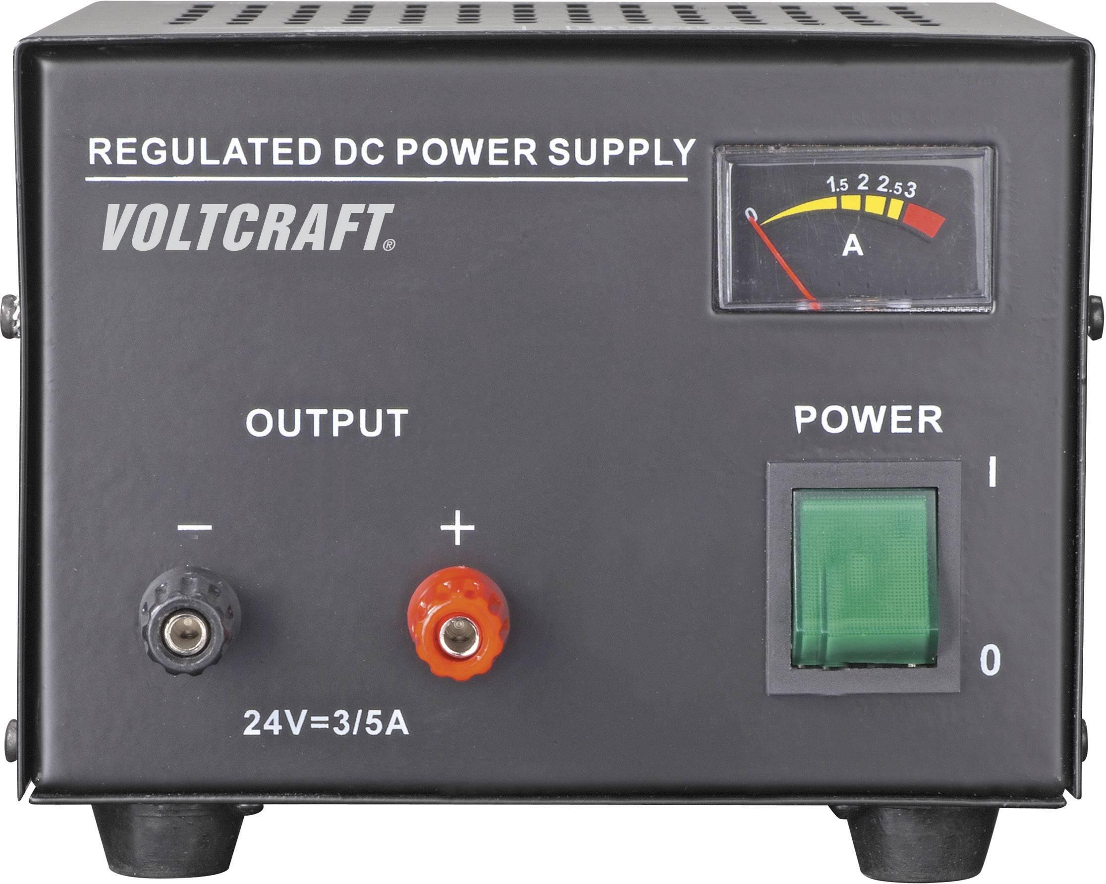 Laboratórny sieťový zdroj Voltcraft FSP-1243, 24 VDC, 3 A