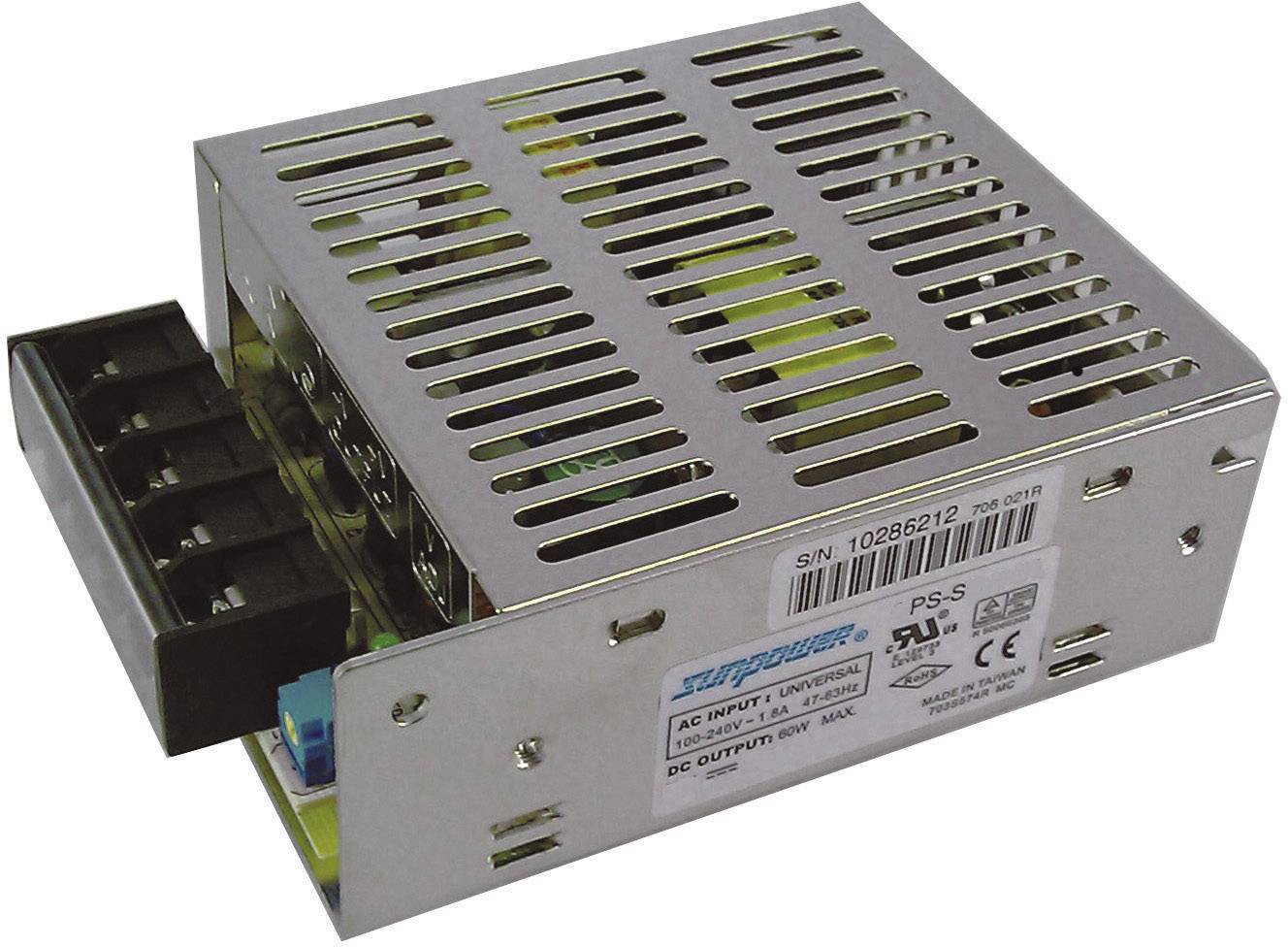 Priemyselný sieťový zdroj SunPower SPS S060-12, 12 V/DC, 5 A, 60 W