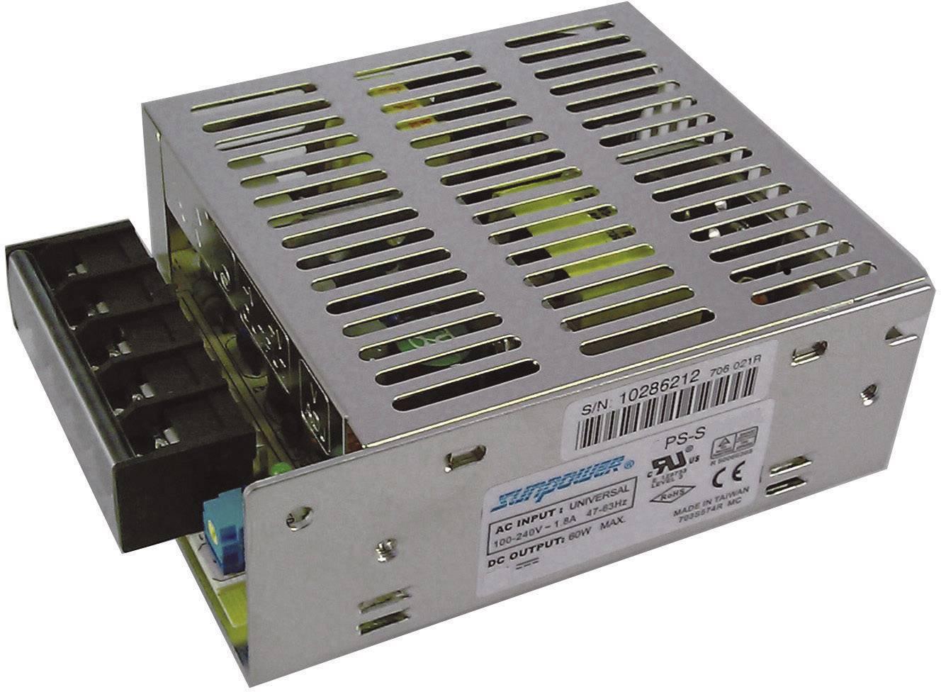 Sieťový zdroj AC/DC do DPS SunPower SPS S060-15, 15 V/DC, 4 A, 60 W