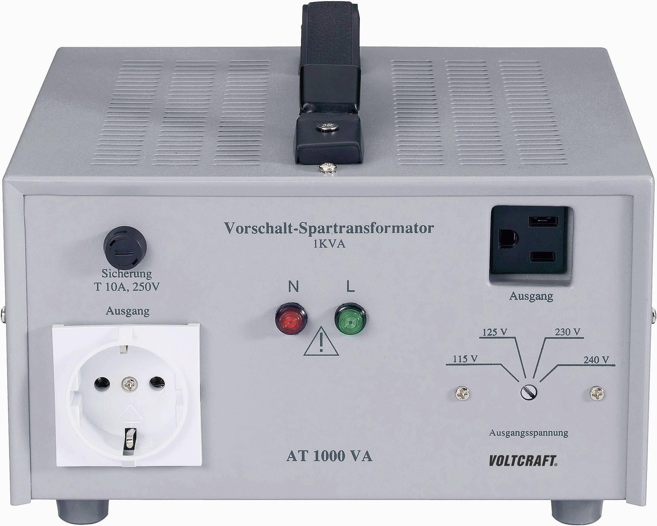 Předřadný transformátor VOLTCRAFT AT-1000 NV