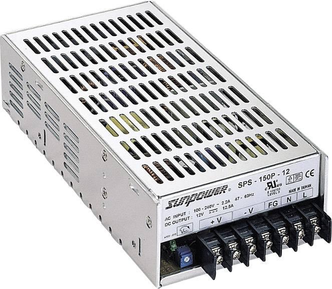 Zabudovateľný zdroj AC/DC SunPower SPS 150P-15, 15 V/DC, 10 A, 150 W