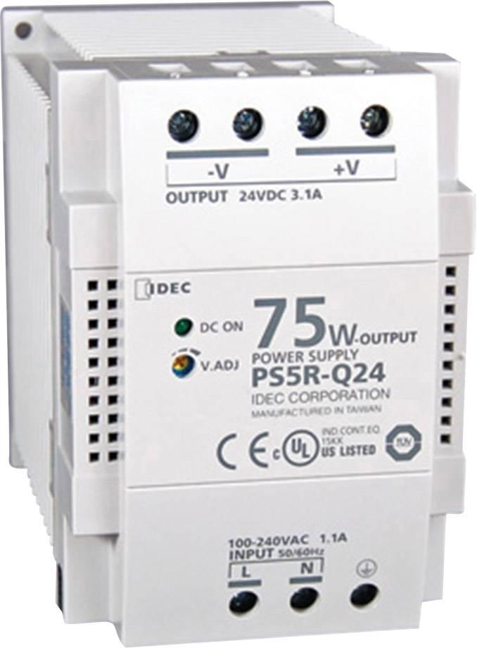 Zdroj na DIN lištu Idec PS5R-Q24, 3,13 A, 24 V/DC