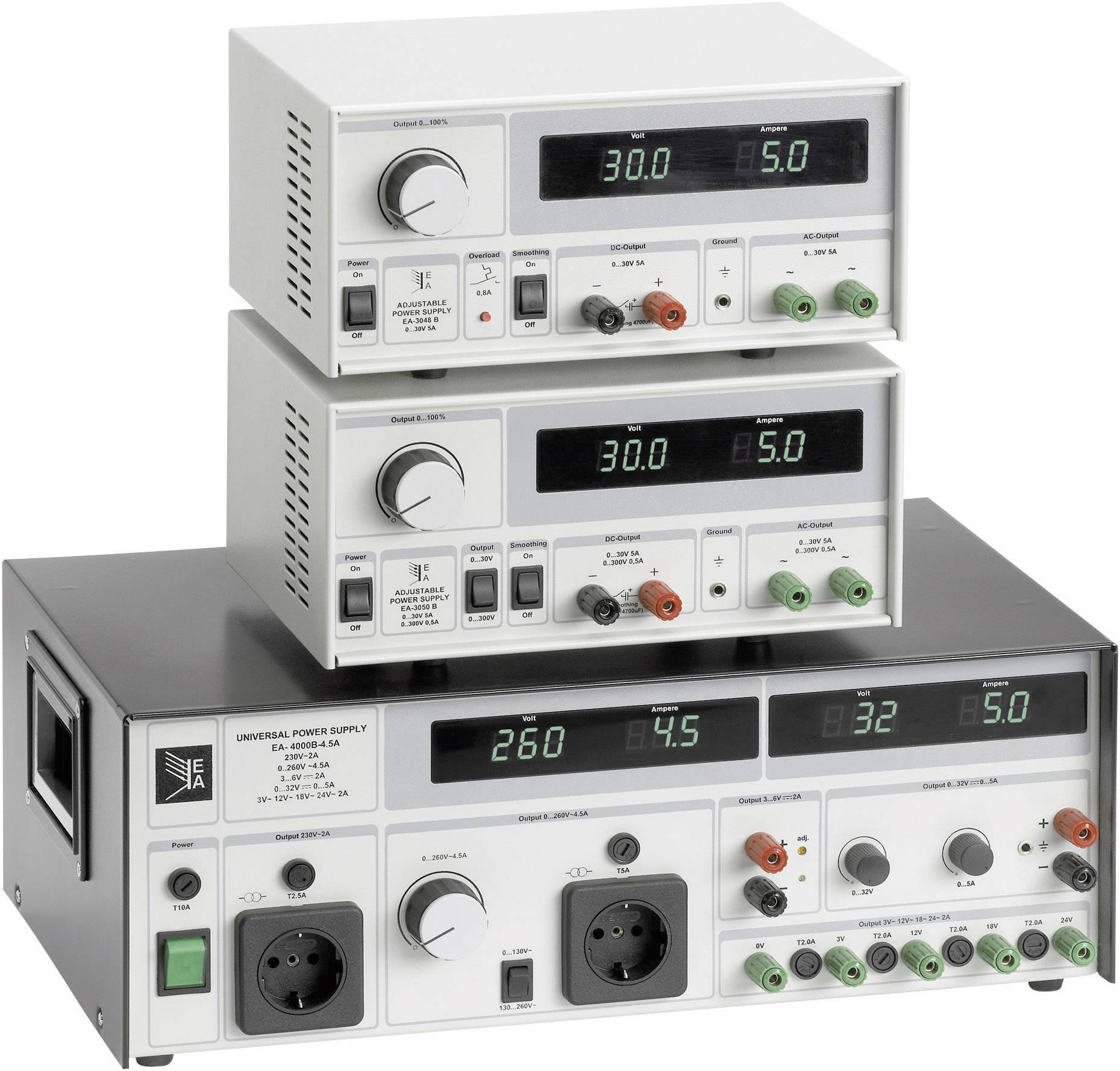 Univerzálny sieťový zdroj EA-3048B, 0 - 30 V, 5 A