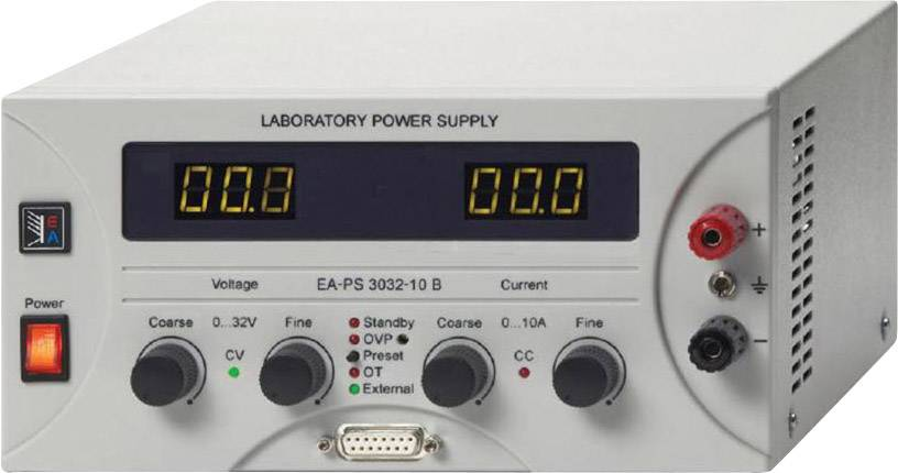 Laboratórny sieťový zdroj EA-PS 3016-20B, 0 - 16 VDC, 0 - 20 A